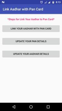 Link Aadhar with PAN Card apk screenshot
