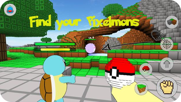 All Evolution mode Pixelmon world: Catch them now! poster