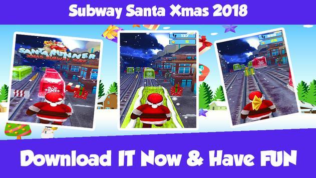 Subway Santa Xmas 2018 poster