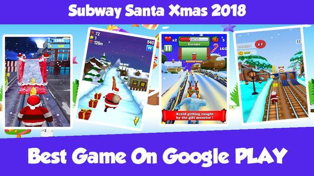 Subway Santa Xmas 2018 screenshot 1