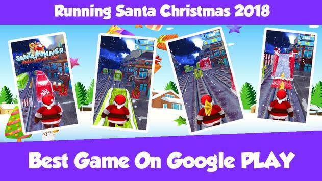 Running Santa Christmas 2018 Game poster