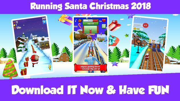 Running Santa Christmas 2018 Game screenshot 1