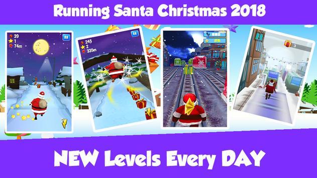 Running Santa Christmas 2018 Game screenshot 2