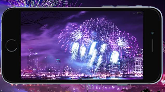 Fireworks New Year poster