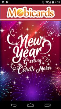 Happy New year Greetings Cards poster