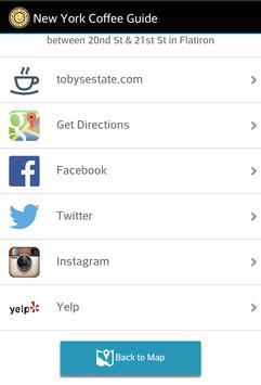 New York Coffee Guide apk screenshot