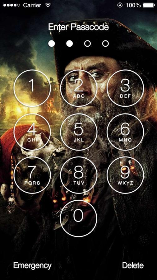 Pirates of The Caribbean 2 Slide Unlock Screen for Android