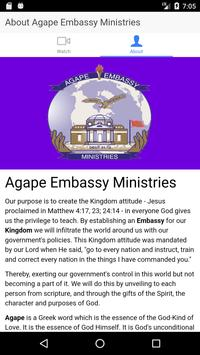 Agape Embassy Ministries apk screenshot