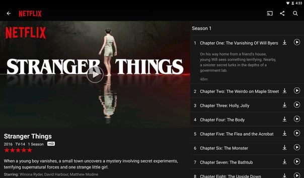 Netflix apk imagem de tela