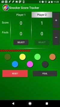 Snooker Score Tracker apk screenshot