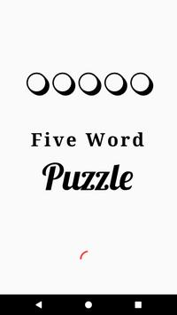 Five Word Puzzle poster