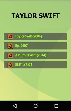 Taylor Swift Lyrics poster