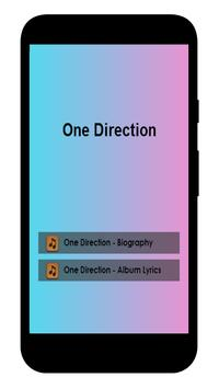 One Direction Lyrics apk screenshot