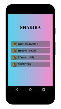Shakira Lyrics apk screenshot