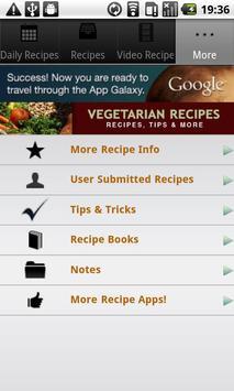 Vegetarian Recipes! screenshot 3