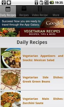 Vegetarian Recipes! poster