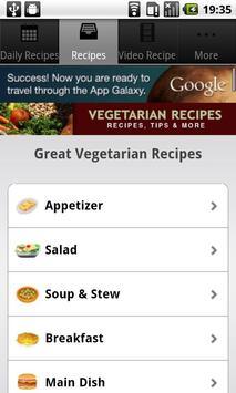 Vegetarian Recipes! screenshot 1