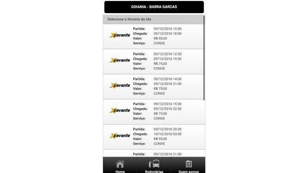 Viação Xavante apk screenshot