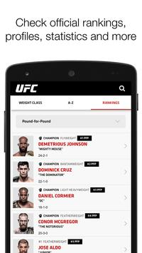 UFC captura de pantalla de la apk
