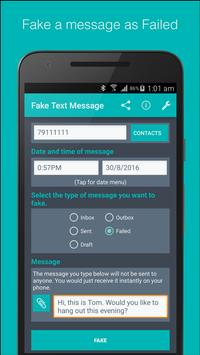 Fake Text Message apk screenshot