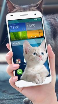 Cat On Mobile Screen Fun screenshot 2