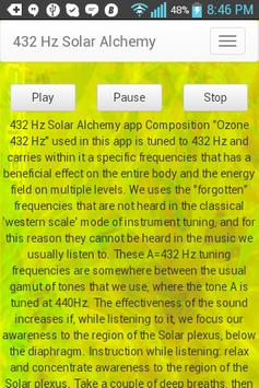 Meditation solar 432 Hz screenshot 1