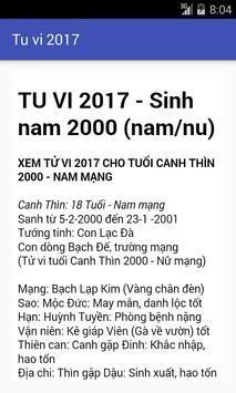 TU VI 2017 poster