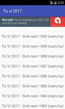 TU VI 2017 screenshot 1