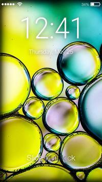 Bubbles Screen Lock poster