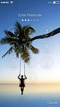 Palm Paradise Screen lock apk screenshot