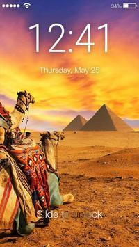 Pyramid Lock Screen poster