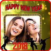 New year photo frame 2018 icon