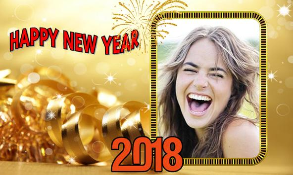 New year photo frame 2018 poster