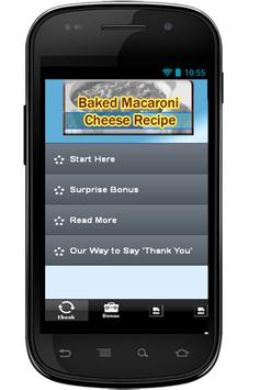 Baked Macaroni Cheese Recipe poster