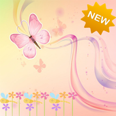 New Pink Flower Butterfly icon