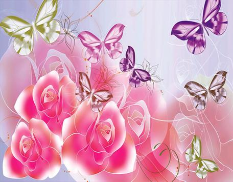 New Pink Flower Butterfly apk screenshot