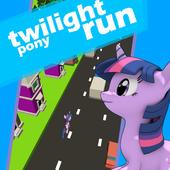Twilight little pony crossing run icon