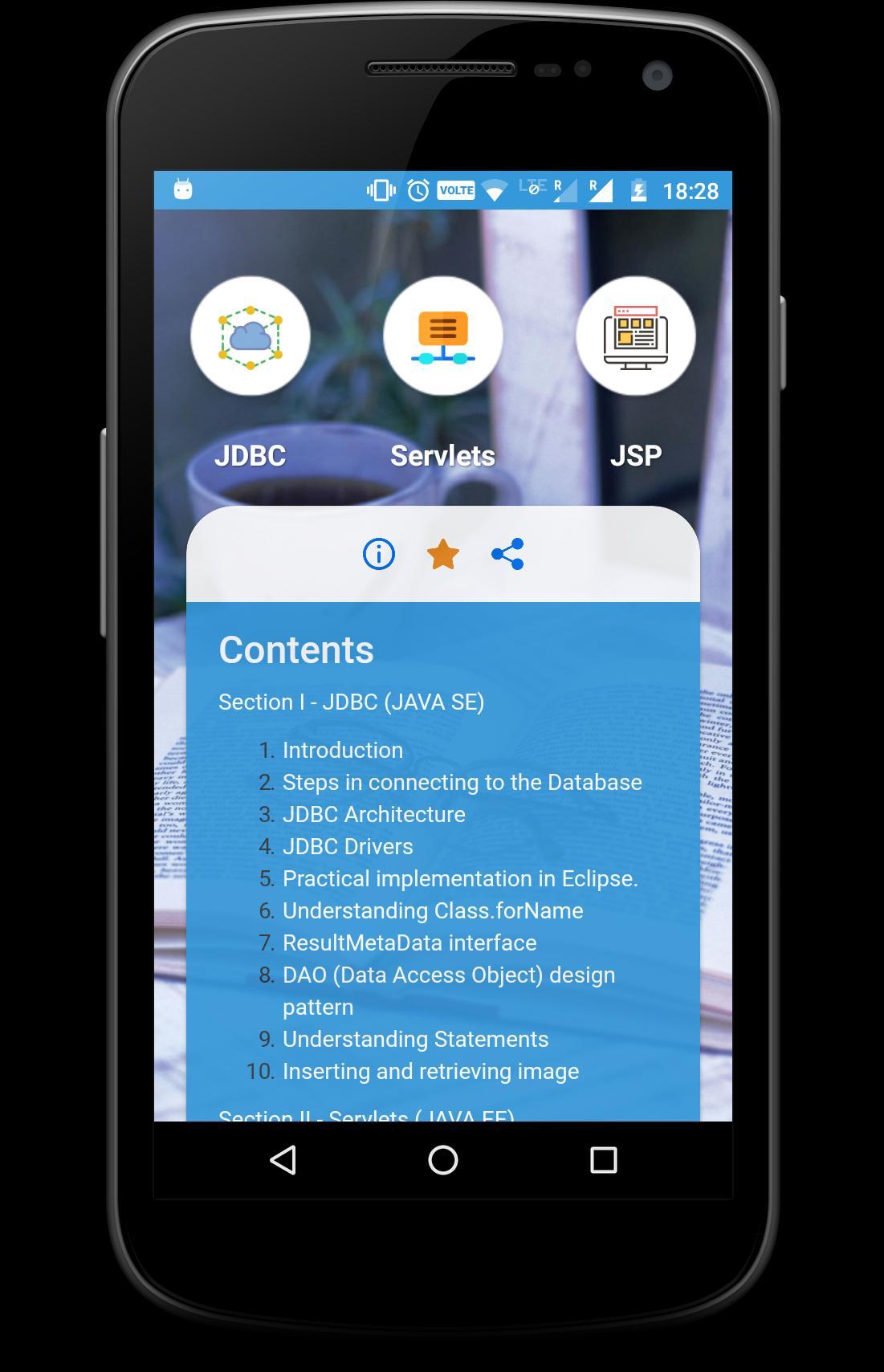 Learn Servlet, JDBC, JSP - JAVA EE Know-how for Android