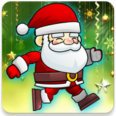 Jumping Santa Claus icon