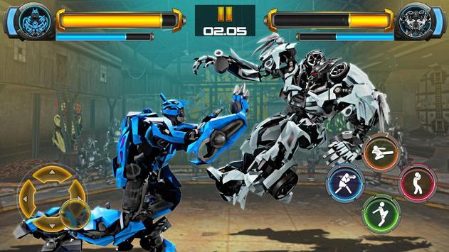 ألعاب روبوت القتال: Real Transform Ring Fight 3D تصوير الشاشة 11