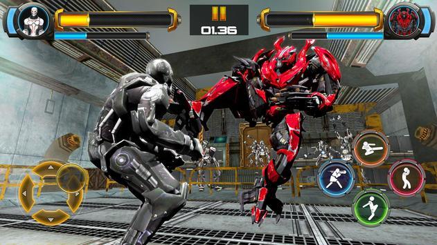 ألعاب روبوت القتال: Real Transform Ring Fight 3D تصوير الشاشة 12