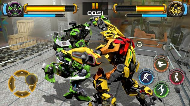 ألعاب روبوت القتال: Real Transform Ring Fight 3D تصوير الشاشة 13