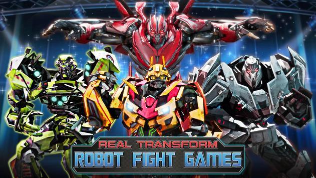 ألعاب روبوت القتال: Real Transform Ring Fight 3D تصوير الشاشة 15