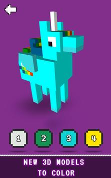 3D Color by Number - Pixel Art Voxel Coloring 2018 screenshot 3