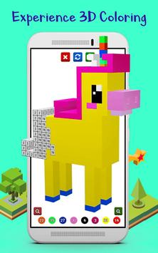 3D Color by Number Coloring Book 2018 - Pixel Art screenshot 5