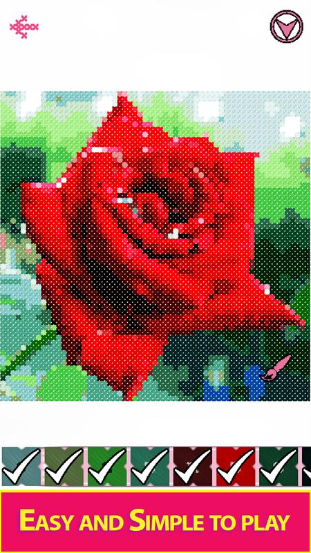Flowers Cross Stitch Adult Color By Number Book For