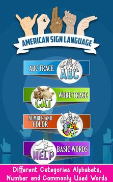 ASL Learning Flashcards poster