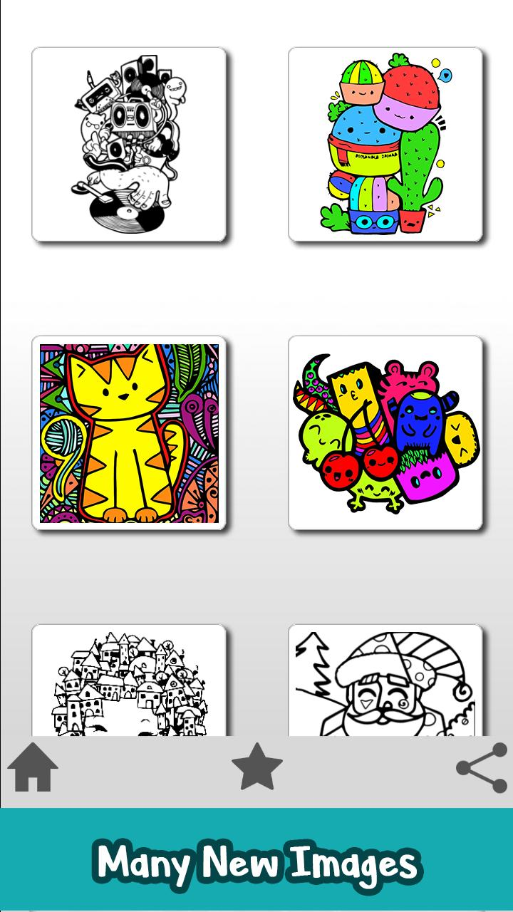 Doodle Color By Number Little Monsters Coloring For Android Apk Download