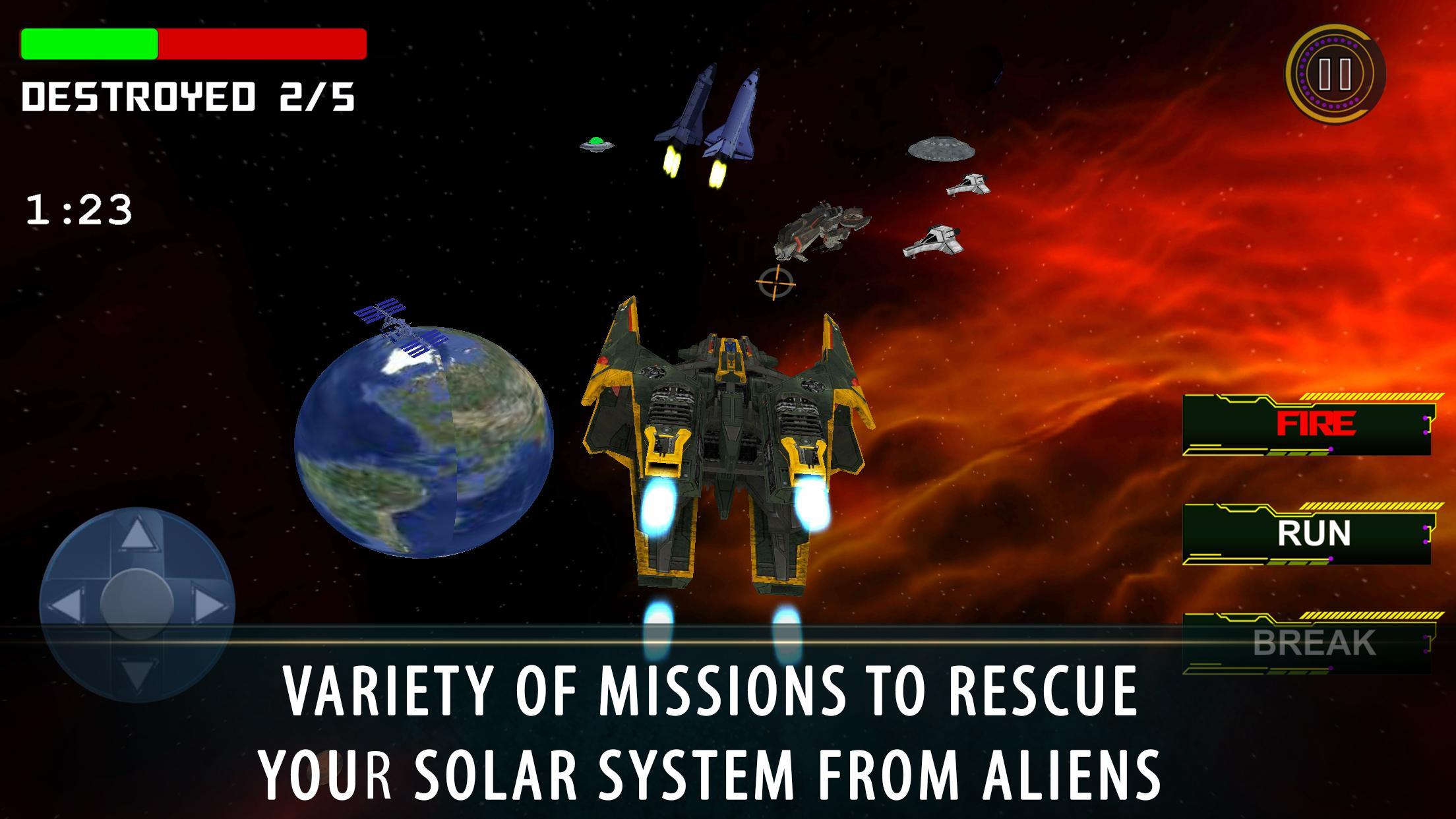 Flying Saucer Universe Defence Battle Simulator for Android - APK