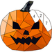 Halloween Poly Art: Color by Number, Coloring Book